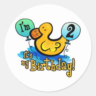 アヒルちゃんの第2誕生日 ラウンドシール