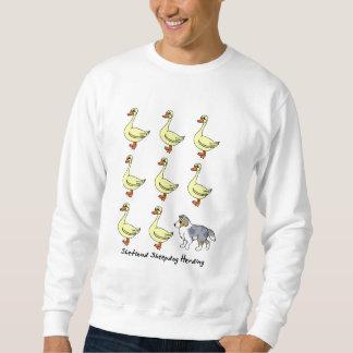 アヒルのスエットシャツを集めているシェットランド・シープドッグ スウェットシャツ