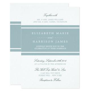 アヒルの卵の青くモダンな結婚式 カード