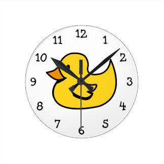 アヒルの柱時計 ラウンド壁時計