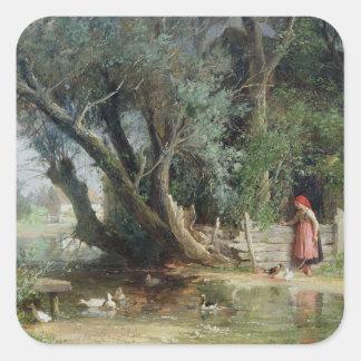 アヒルの池 スクエアシール