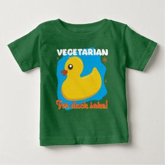 アヒルの為のためのベジタリアン ベビーTシャツ