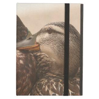 アヒルの鳥の野性生物動物の写真撮影 iPad AIRケース