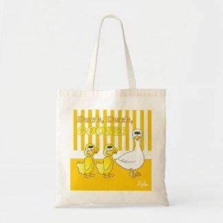 アヒル、アヒル、ガチョウのベビーの子供部屋のテーマ トートバッグ