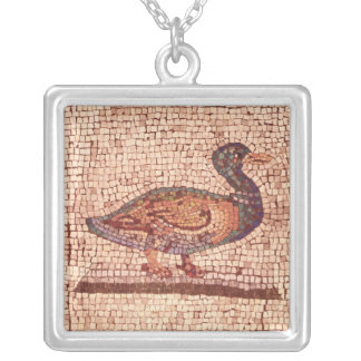 アヒル、動物を魅了しているオルペウスからの詳細 シルバープレートネックレス