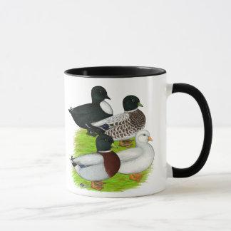 アヒル:  呼出し四つ組 マグカップ