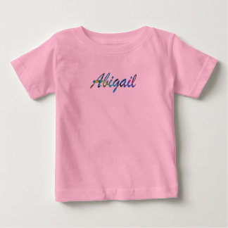 アビゲイルの赤ん坊の罰金のジャージーのTシャツ ベビーTシャツ