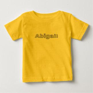 アビゲイルの黄色く短い袖のTシャツ ベビーTシャツ