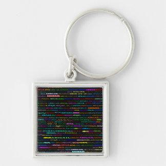 アビゲイル文字デザインなI優れた正方形のKeychain キーホルダー