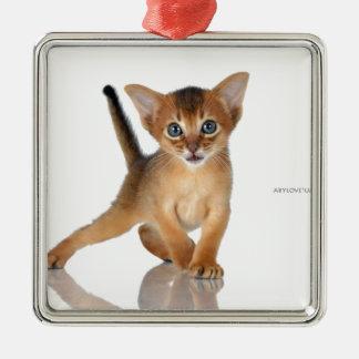 アビシニア猫 メタルオーナメント