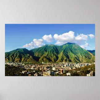 アビラの国立公園、カラカス、ベネズエラの-16:9 - ポスター