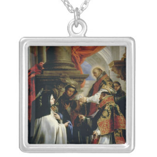 アビラc.1670のSt Teresaの聖餐 シルバープレートネックレス