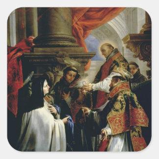 アビラc.1670のSt Teresaの聖餐 スクエアシール