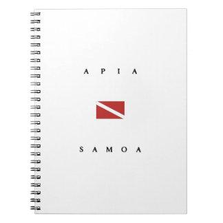 アピーアサモアのスキューバ飛び込みの旗 ノートブック