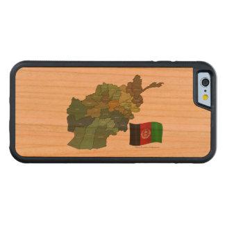 アフガニスタンの地図そして旗 CarvedチェリーiPhone 6バンパーケース