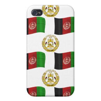 アフガニスタンの旗および頂上 iPhone 4 ケース