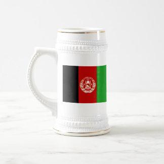 アフガニスタンの旗の~の地図のマグ ビールジョッキ