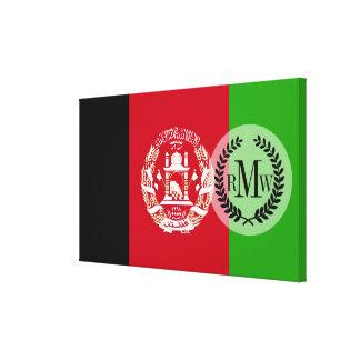 アフガニスタンの旗 キャンバスプリント