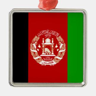 アフガニスタンの旗 メタルオーナメント