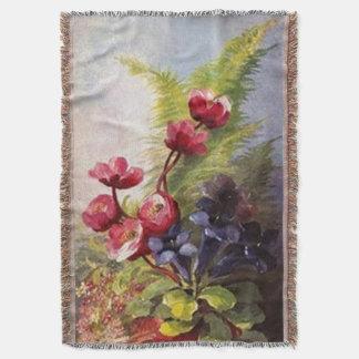 アフガニスタンヴィンテージの森林野生の花 ブランケット