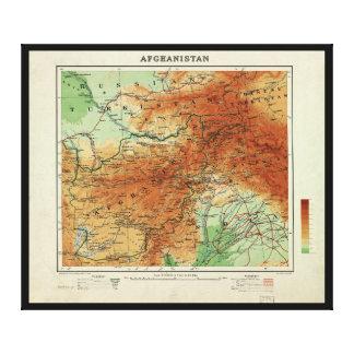 アフガニスタン(1912年)の地図 キャンバスプリント