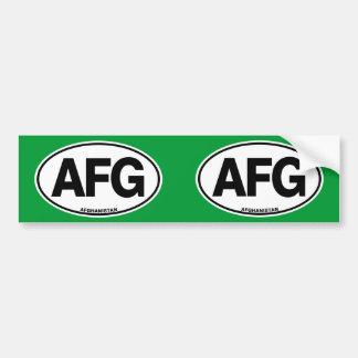 アフガニスタンAFGの楕円形のヨーロッパのスタイルのアイデンティティの手紙 バンパーステッカー