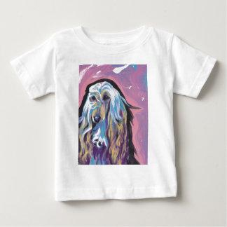 アフガンハウンドのカラフルの破裂音犬の芸術 ベビーTシャツ