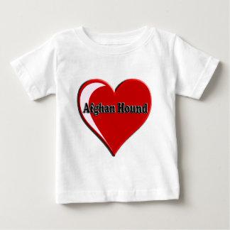 アフガンハウンドのハート ベビーTシャツ
