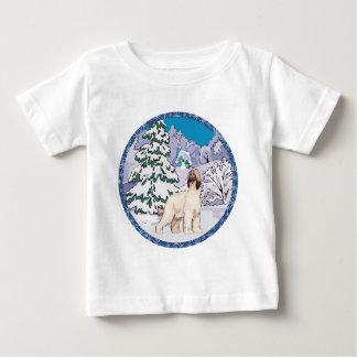 アフガンハウンドの冬 ベビーTシャツ
