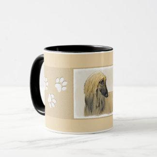 アフガンハウンドの絵画-かわいい元の犬の芸術 マグカップ