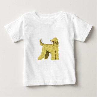 アフガンハウンド犬 ベビーTシャツ
