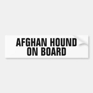 アフガンハウンド船上に バンパーステッカー