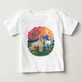 アフガンハウンド(立っている子鹿) ベビーTシャツ