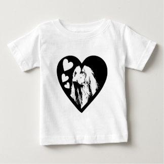 アフガンハウンドBW001 ベビーTシャツ