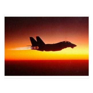 アフターバーナーのF-14雄猫 ポストカード