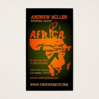 アフリカすべての旅行l名刺のテンプレート 名刺