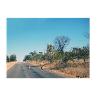 アフリカで走ること キャンバスプリント