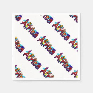 アフリカのおもしろいの多彩なサファリのロゴ スタンダードカクテルナプキン