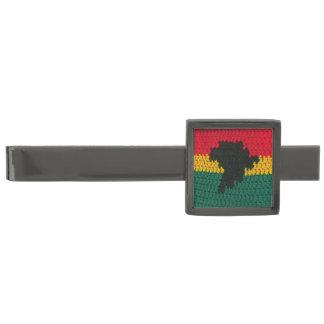 アフリカのかぎ針編みのタイ・バーの砲金によってめっきされるモダン ガンメタル ネクタイピン