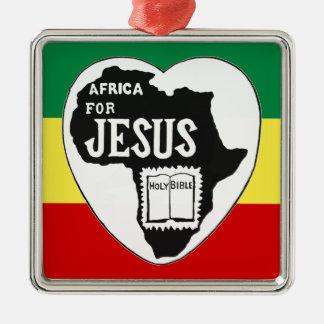 アフリカのためのイエス・キリスト メタルオーナメント