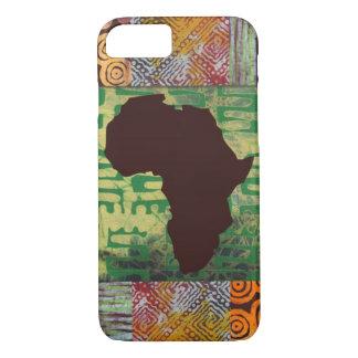 アフリカのろうけつ染めは場合を模造します iPhone 8/7ケース