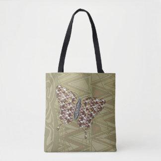 アフリカのアゲハチョウの全にプリントのバッグ トートバッグ