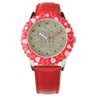 アフリカのアゲハチョウの腕時計 腕時計