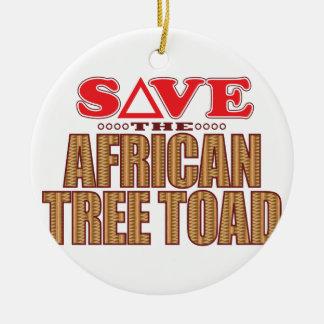 アフリカのアマガエルの保存 セラミックオーナメント