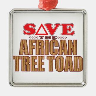 アフリカのアマガエルの保存 メタルオーナメント