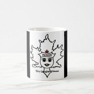 アフリカのカナダのプリンセスのマグ コーヒーマグカップ