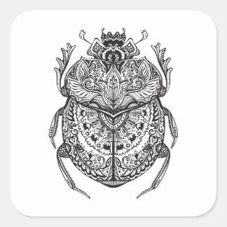 アフリカのカブトムシZendoodle スクエアシール