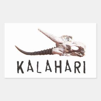 アフリカのカラハリ砂漠: 死んだカモシカのスカル 長方形シール