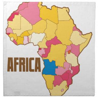 アフリカのカラーマップの国家 ナプキンクロス
