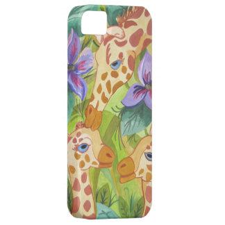 アフリカのキリンのキス(キンバリーTurnbullの芸術) iPhone SE/5/5s ケース